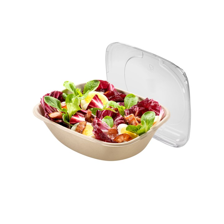 Naturesse Sugarcane Compostable Disposable Bowl Rectangular 600Ml Unbleached