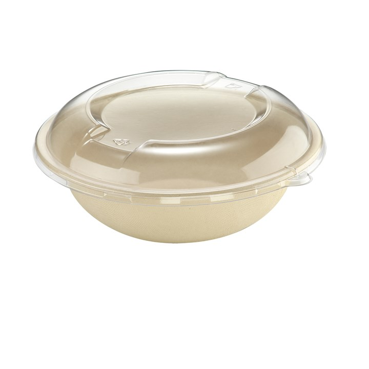 Naturesse Sugarcane Compostable Disposable Bowl 600Ml Natural
