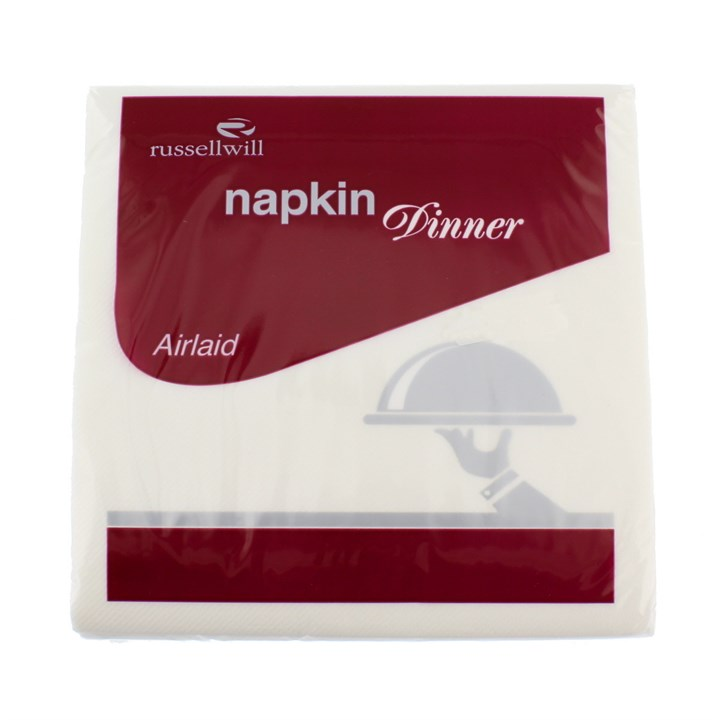 White Premium Airlaid Dinner Napkins 40 X 40 Cm