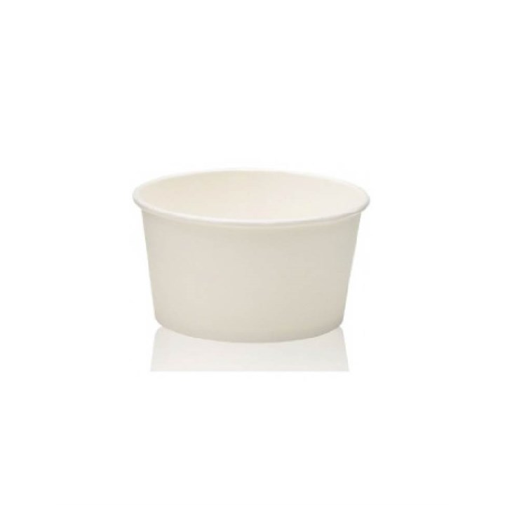 8OZ COMPOSTABLE WHITE ICE CREAM CUP