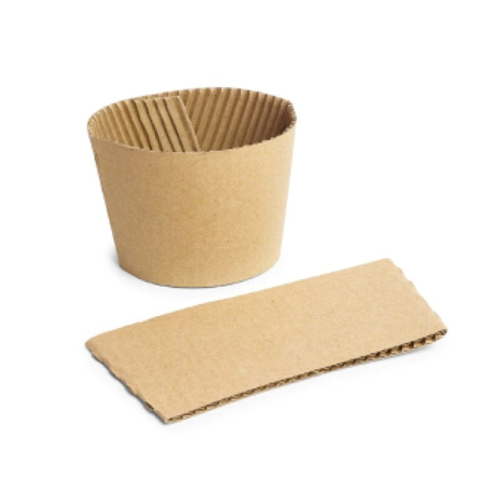 8/10Oz Kraft Compostable Cup Sleeves/Clutches