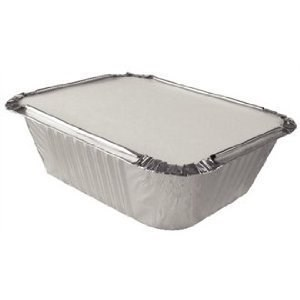 No.6A  4 X 8 Inchtakeaway Foil Tray Container & Lid Combo Pack Of 500