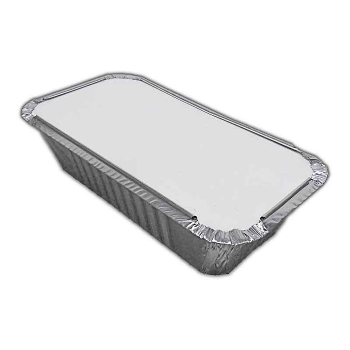 No.6A  4 X 8 Inchtakeaway Foil Tray Container & Lid Combo