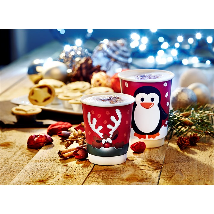 8oz Rudolph Double Wall Cup