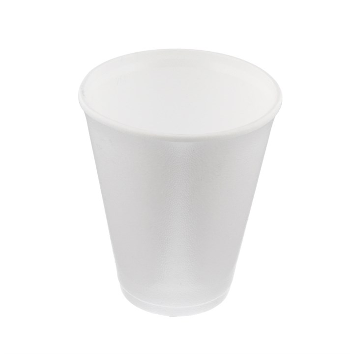 8OZ WHITE FOAM POLYSTYRENE DISPOSABLE CUPS