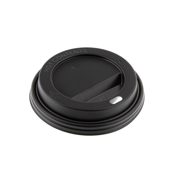 4Oz Black Hot Coffee Cup Sip Thru Lids
