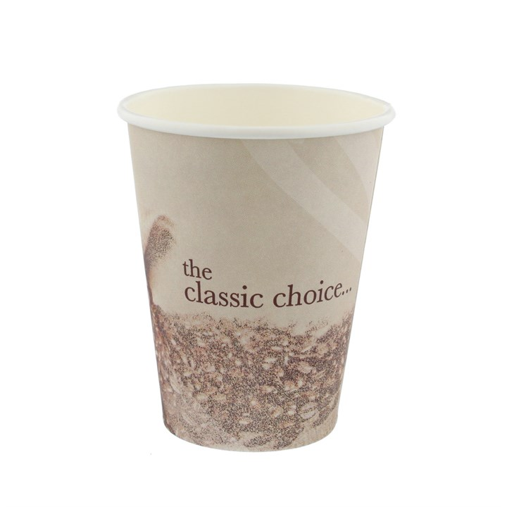 8Oz Classic Stock Design Single Wall Disposable Coffee Cups