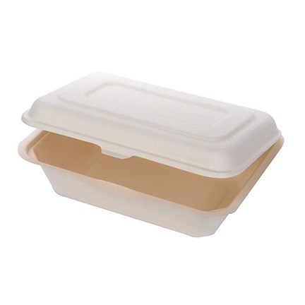 Compostable Sugarcane Clamshell Food Box