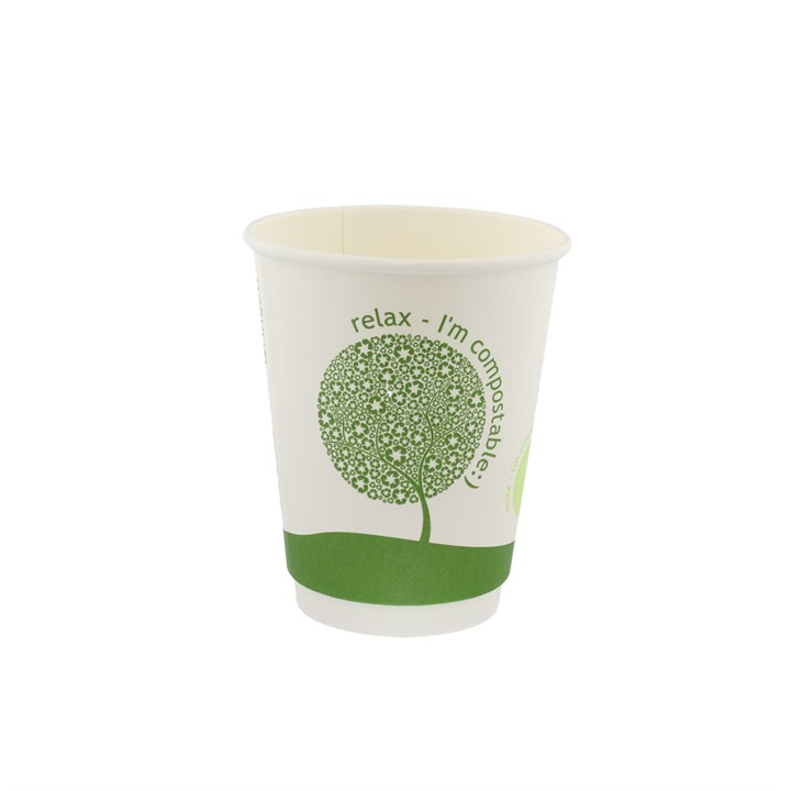 8Oz Leaf Compostable Double Wall Cups