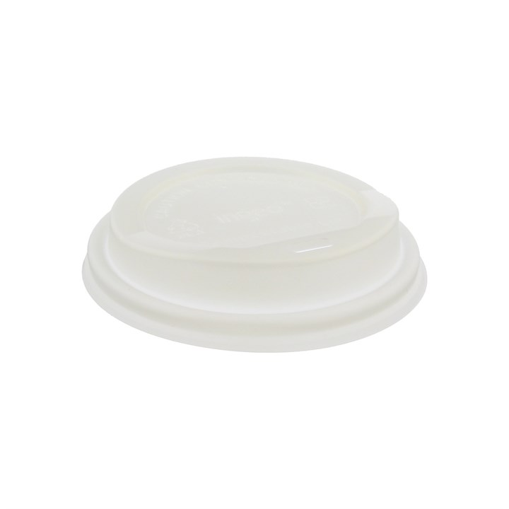 8/10OZ COMPOSTABLE PLA HOT COFFEE CUP LIDS