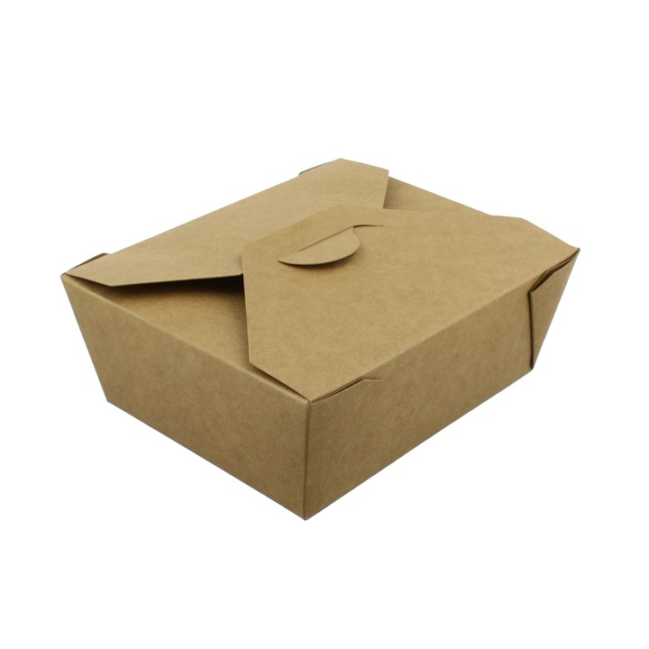 No. 8 1300Ml Leaf Kraft Deli Food Boxes