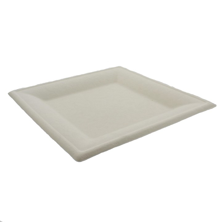 10 INCH SQUARE COMPOSTABLE SUGARCANE PLATE
