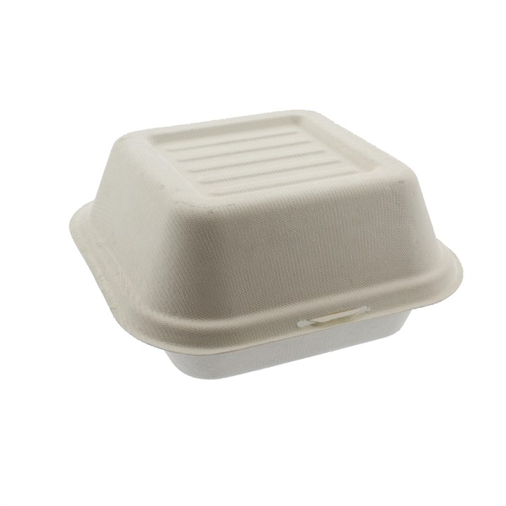 6 INCH COMPOSTABLE SUGARCANE BURGER BOXES