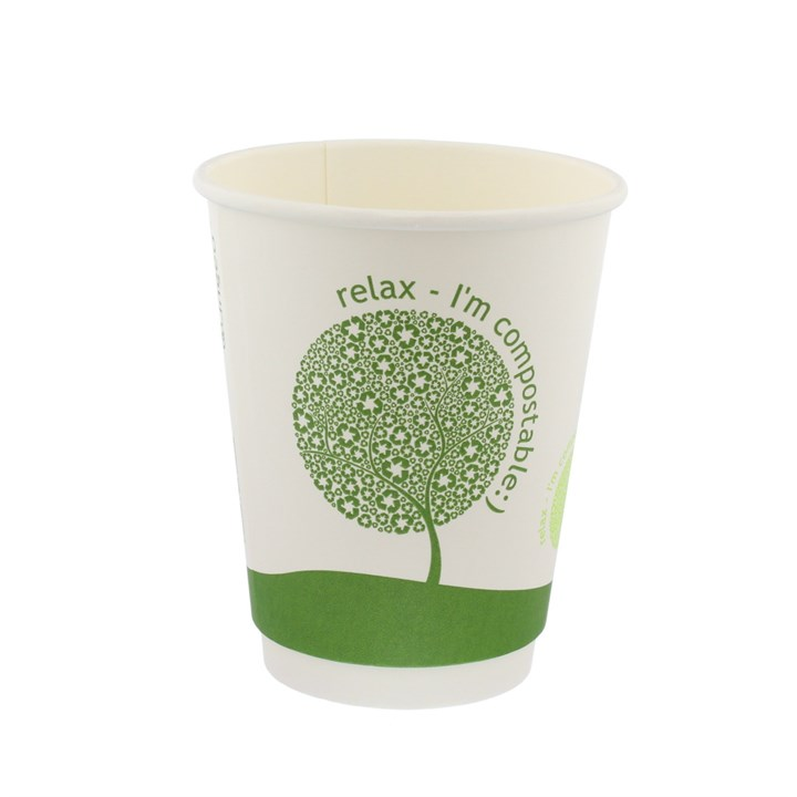 12Oz Leaf Compostable Double Wall Cups