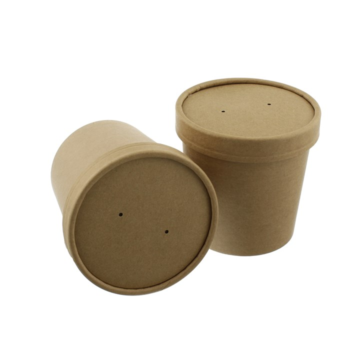 Leaf Kraft Soup Food Cup & Lid Combo