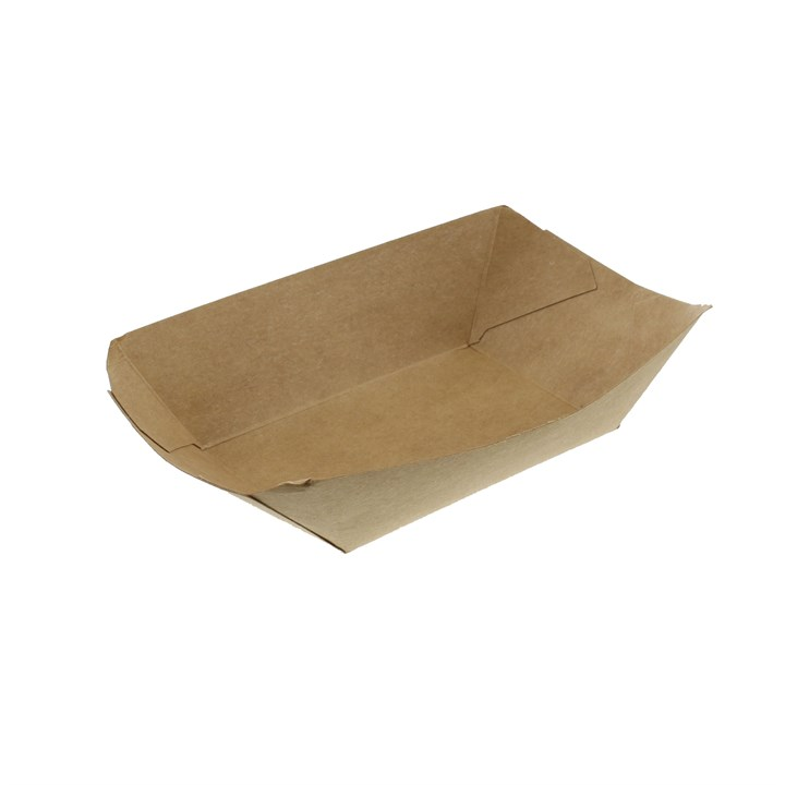 Brown Kraft 2Lb Leaf Street Food Chip Trays