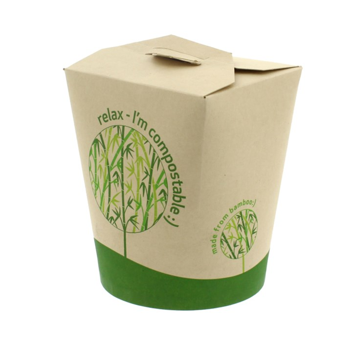 Leaf 16Oz Bamboo Compostable Round Noodle Box