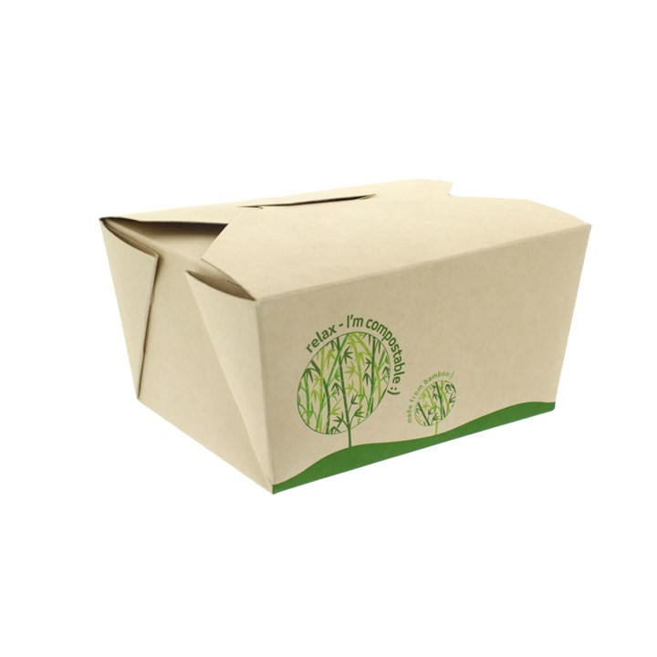 750Ml Leaf Bamboo Compostable Deli Food Boxes No.1