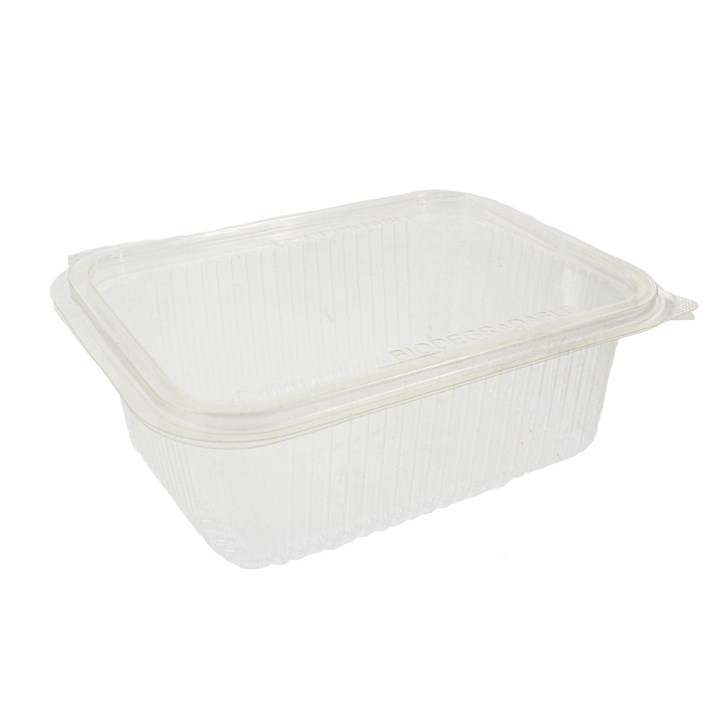 Clear Compostable Pla Salad Container