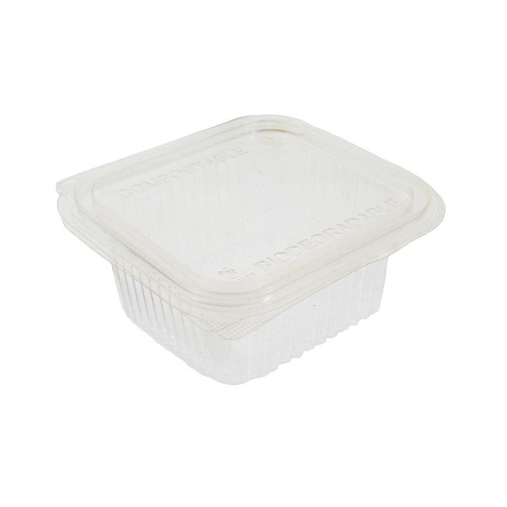 370Cc Clear Compostable Pla Salad Container