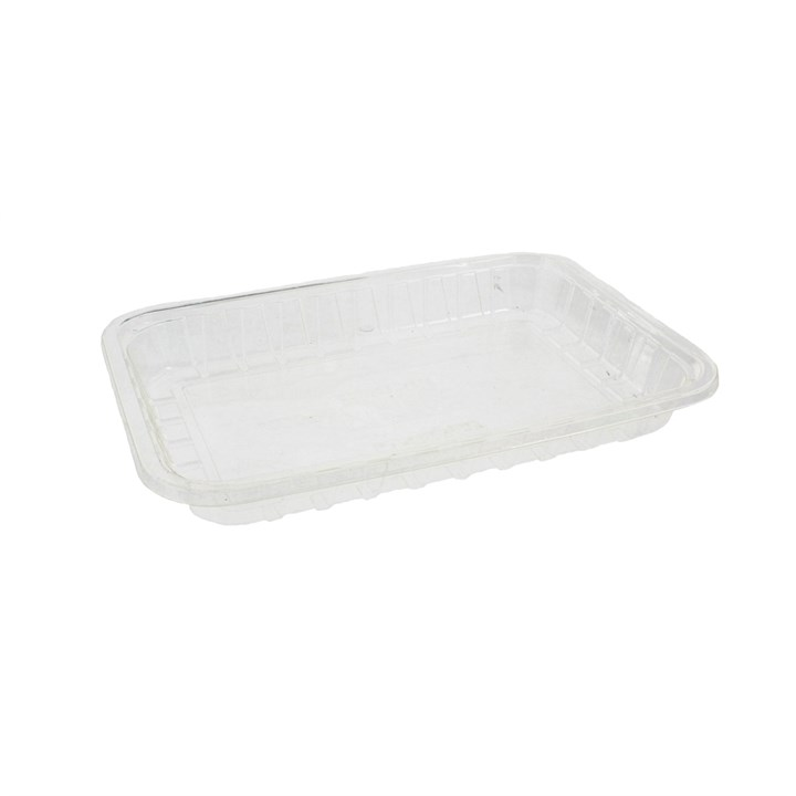 Clear Compostable Pla Trays 191 X 132 X 22Mm
