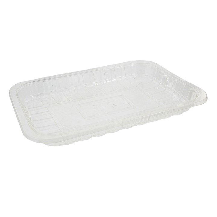 CLEAR COMPOSTABLE PLA TRAYS