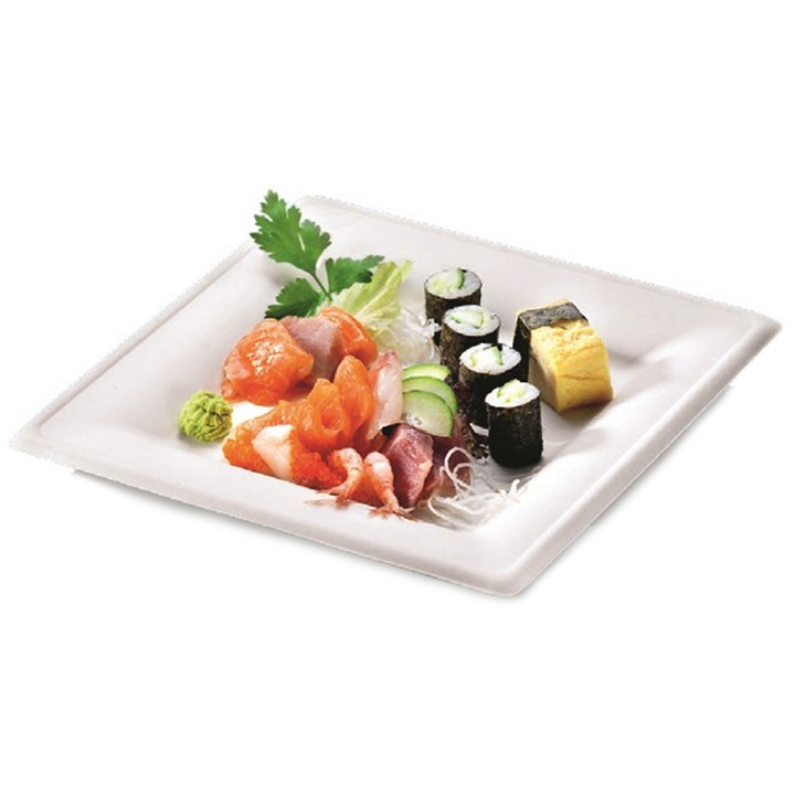 Naturesse Sugarcane Compostable Disposable Karo Square Plate