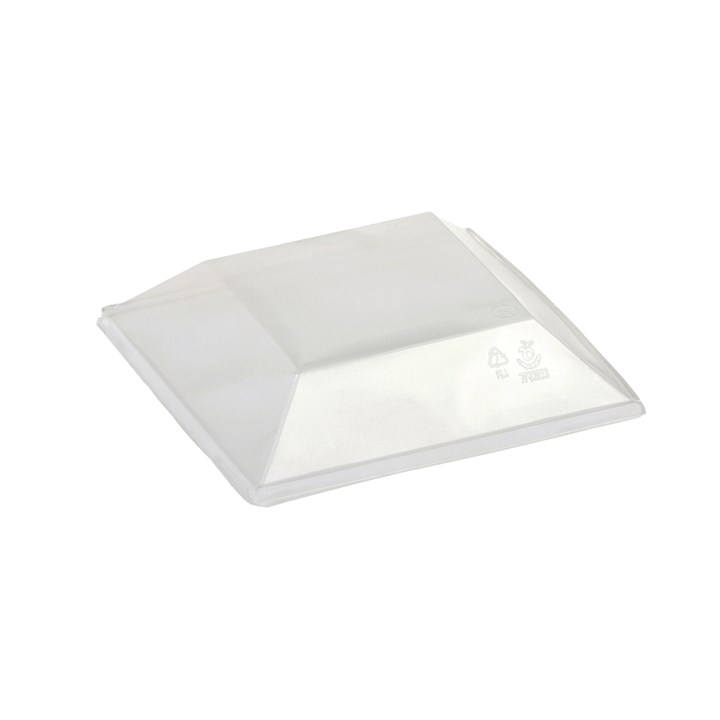 NATURESSE CLEAR COMPOSTABLE DISPOSABLE PLA LID FOR 450ML KARO BOWL / KHEOPS