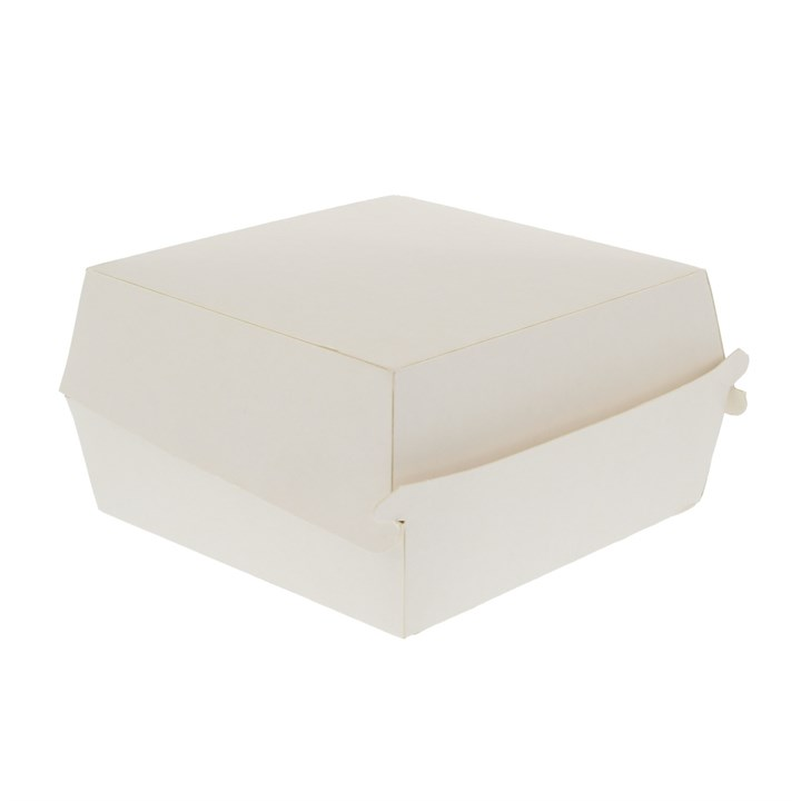 White Paper Clamshell 1/4 Pounder Burger Boxes