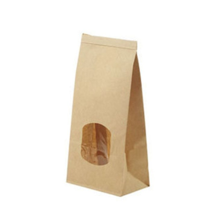 Medium Kraft Window Paper Bags