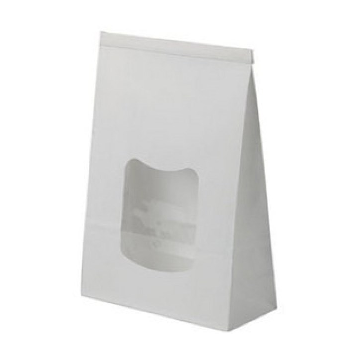 Large White Window Paper Bags