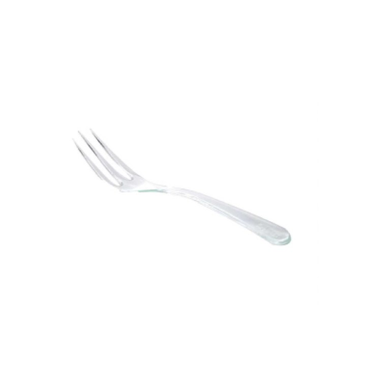 4 Inch Clear Plastic Canape Fork