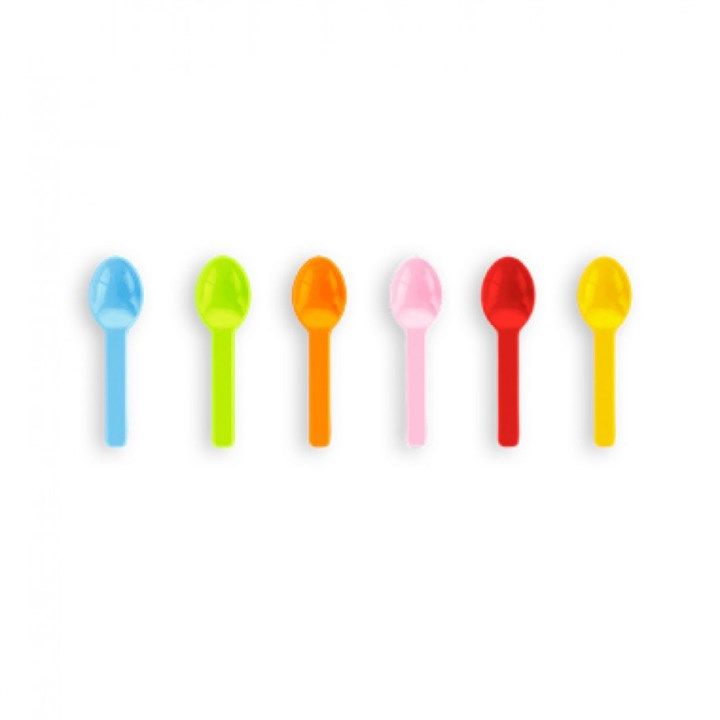 3 INCH ASSORTED COMPOSTABLE PLASTIC ICE CREAM SPOON