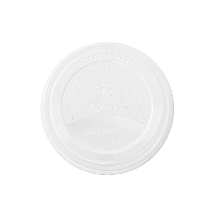 Vegware White Compostable Sip Thru Lid
