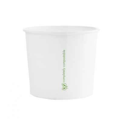 10Oz Bio White Soup Food Cup