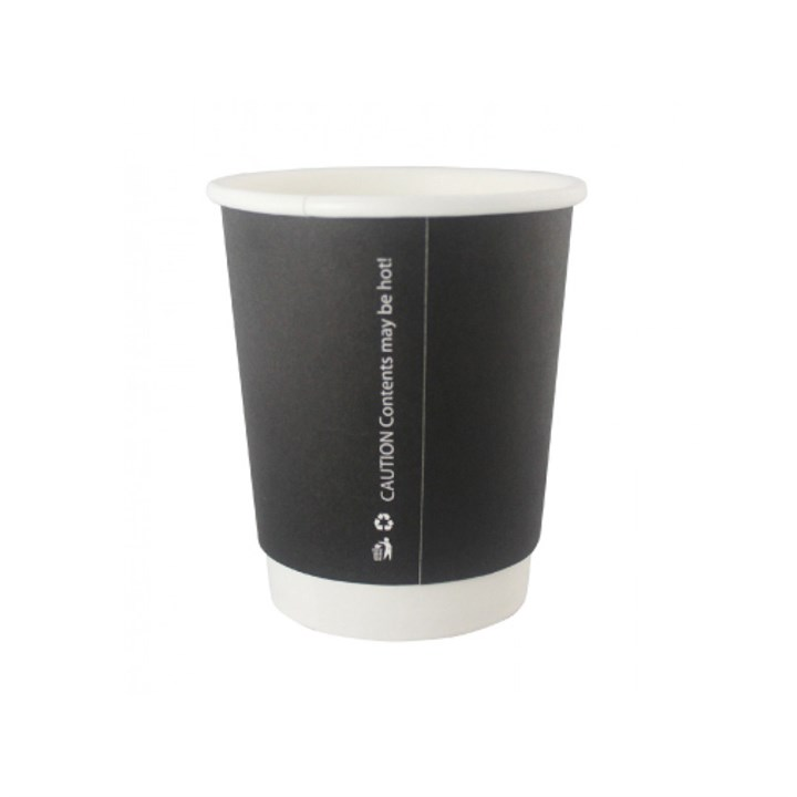 8Oz Black Double Wall Cups