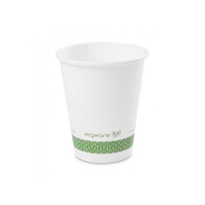 8Oz Vegware Compostable Single Wall Cup White