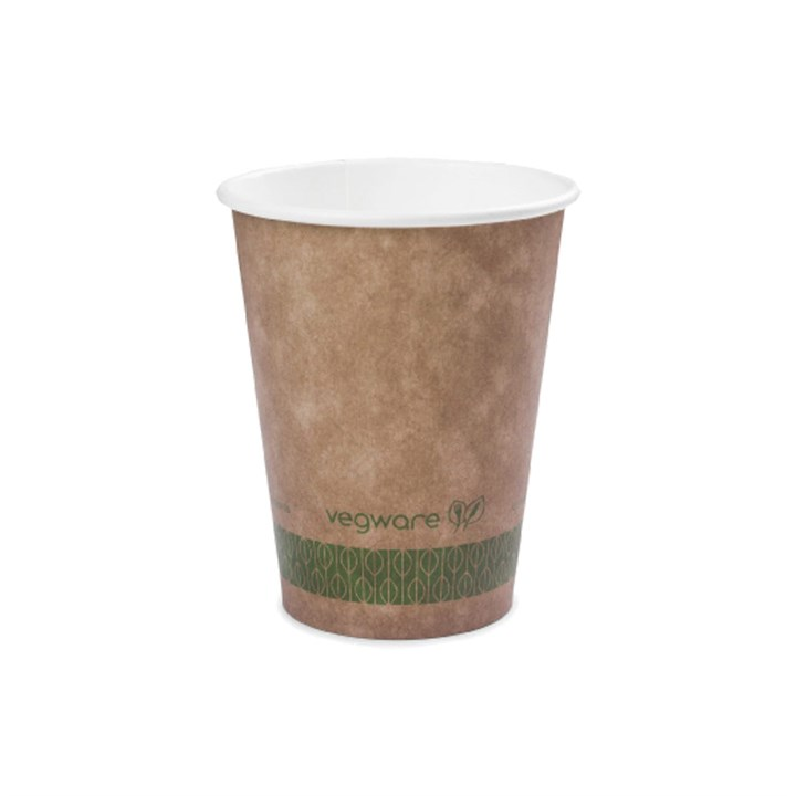 10OZ VEGWARE COMPOSTABLE SINGLE WALL CUP KRAFT