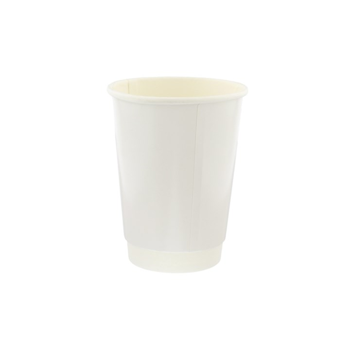 8OZ WHITE DOUBLE WALL CUPS