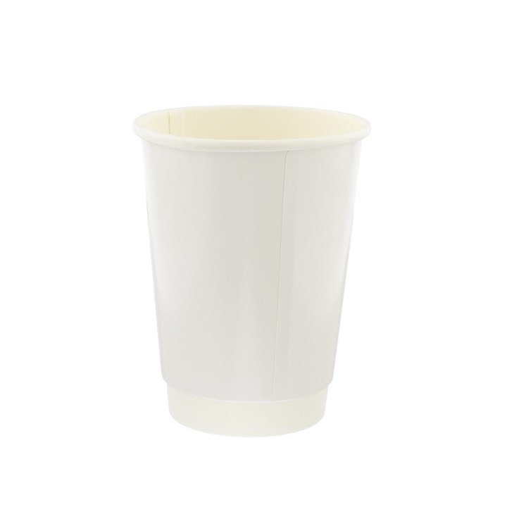 12Oz White Double Wall Cups