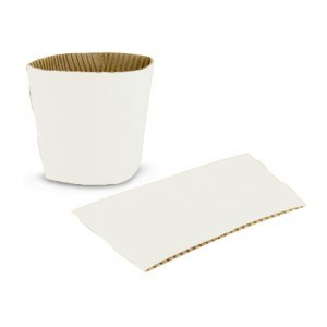 12/16/20Oz White Compostable Cup Sleeves/Clutches