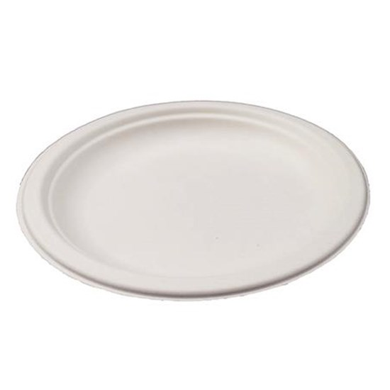 Round Compostable Sugarcane Plate