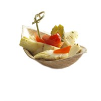 NATURESSE PALM LEAF COMPOSTABLE DISPOSABLE BOAT TRAY 11.5 X 6CM