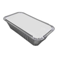 No.6A  4 X 8 Inchtakeaway Foil Tray Container & Lid Combo Pack Of 1000