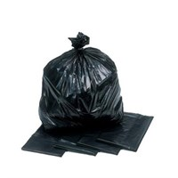 29 X 39 Inch Standard Black Refuse Sacks 80L Bulk Pack