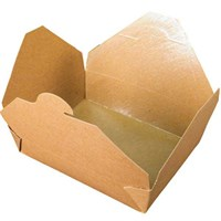 No. 12 1000Ml Leaf Kraft Deli Food Boxes
