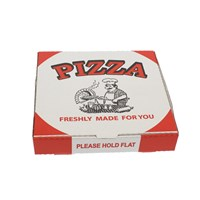 WHITE PIZZA BOXES GENERIC PRINT
