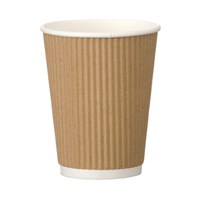 EDENWARE KRAFT RIPPLE COMPOSTABLE CUP