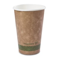 16Oz Vegware Compostable Single Wall Cup Kraft