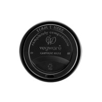 10-20Oz Black Compostable Sip Thru Lid